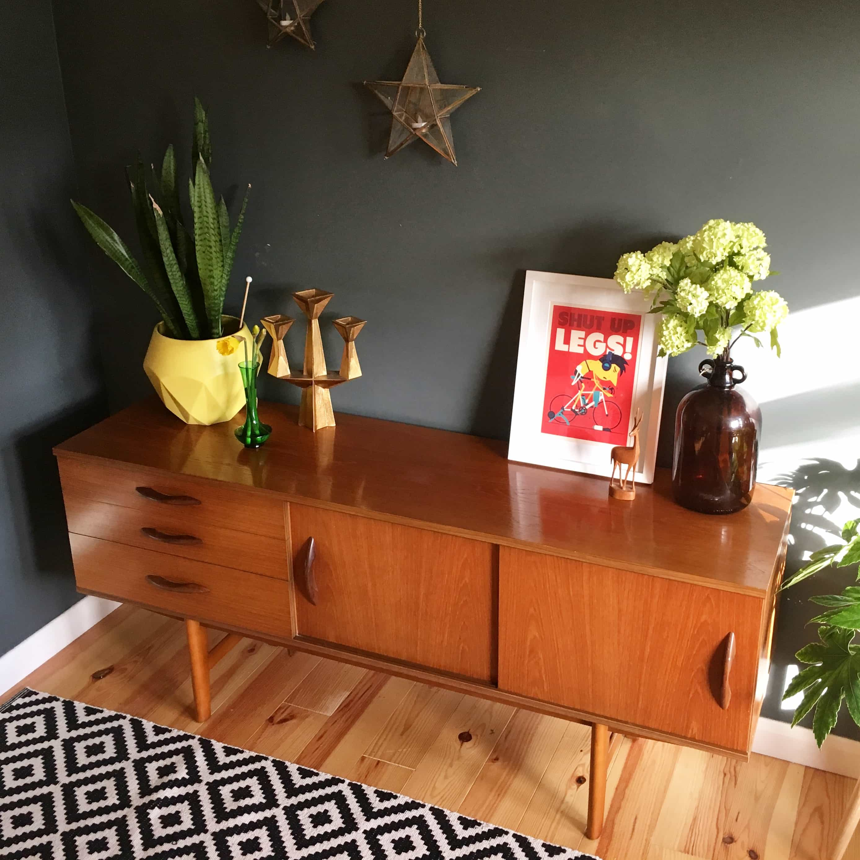 For Sale: Avalon Mid Century Teak Sideboard
