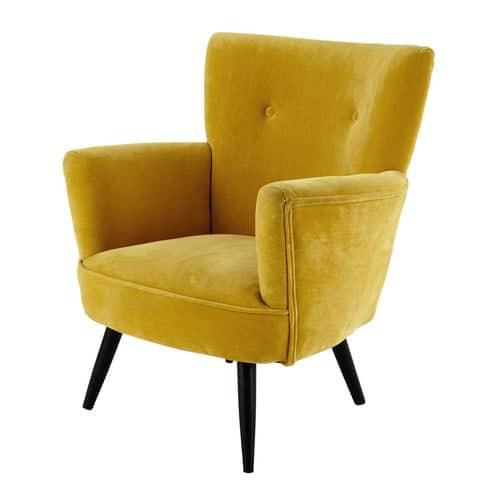 Must have mustard yellow chairs interior design buyers guides online uk green mustard - Fauteuil baudelaire maison du monde ...