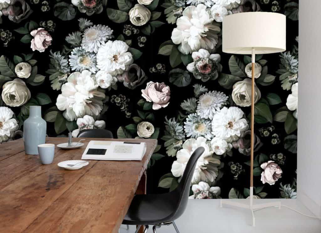 Dark Floral Interiors Floral Noir