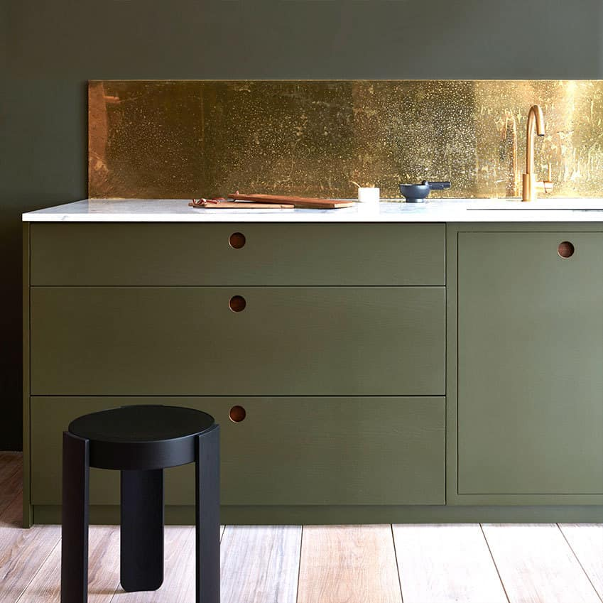Naked In The Kitchen: Go For Luxe Gold Interiors