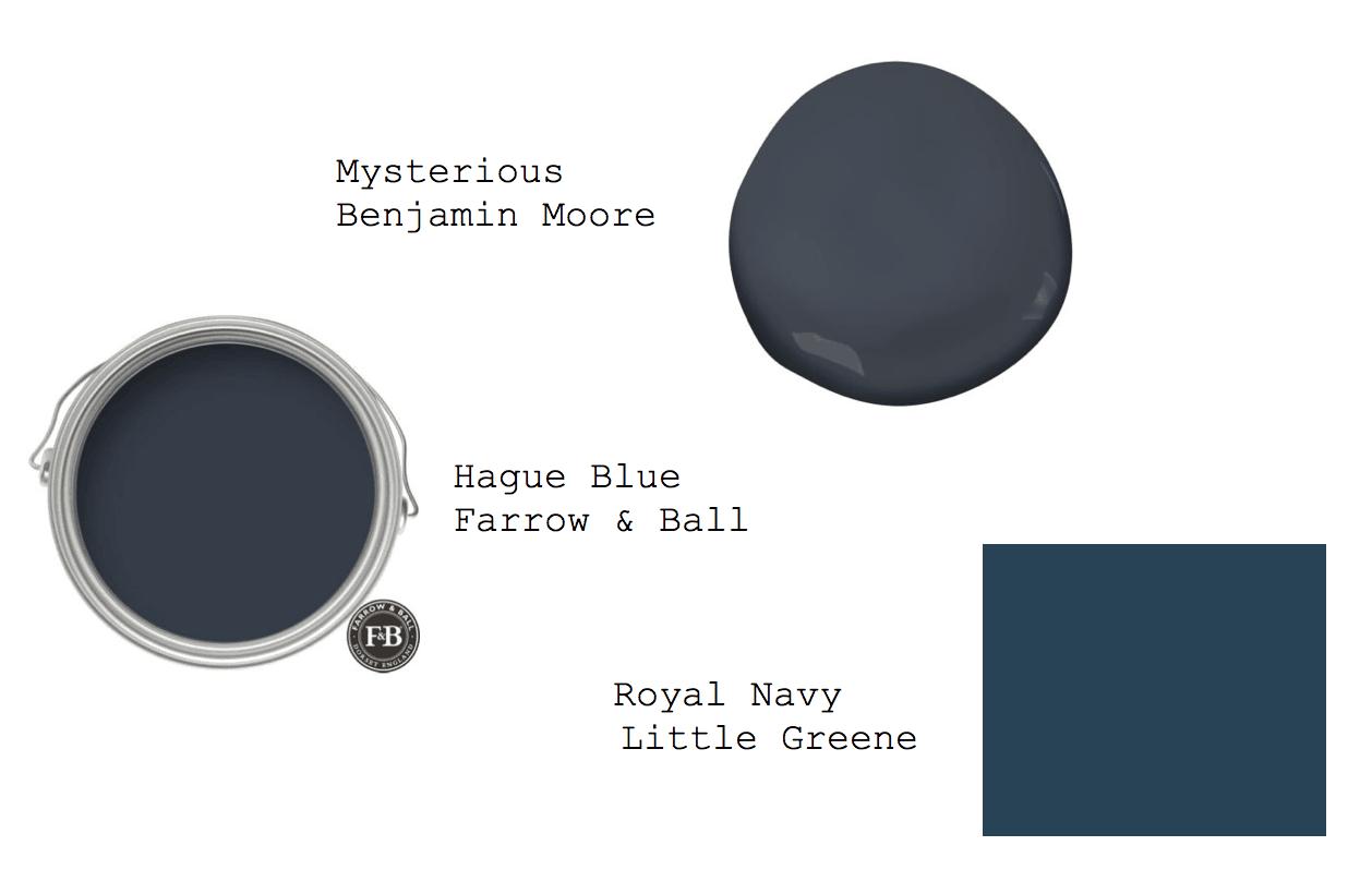 dark blue interiors