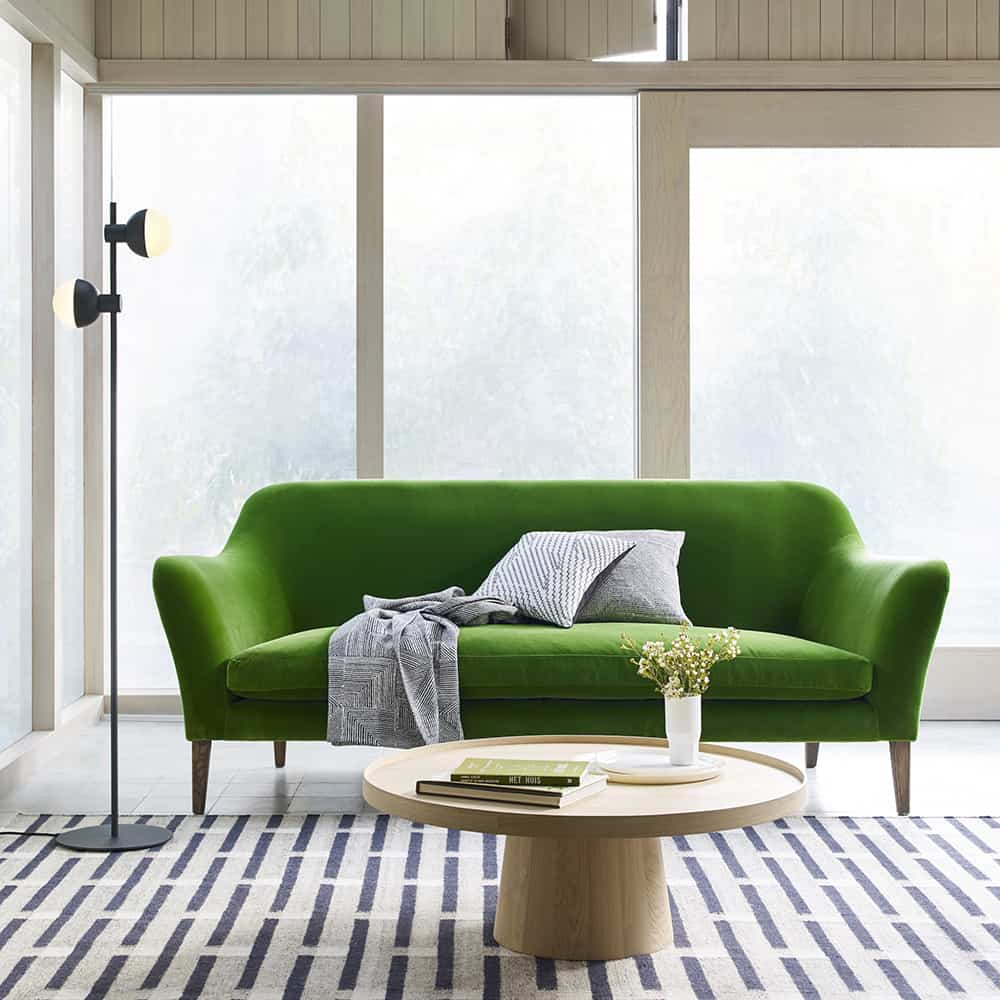 It's All About The Green Velvet Sofa   Interior Design ...