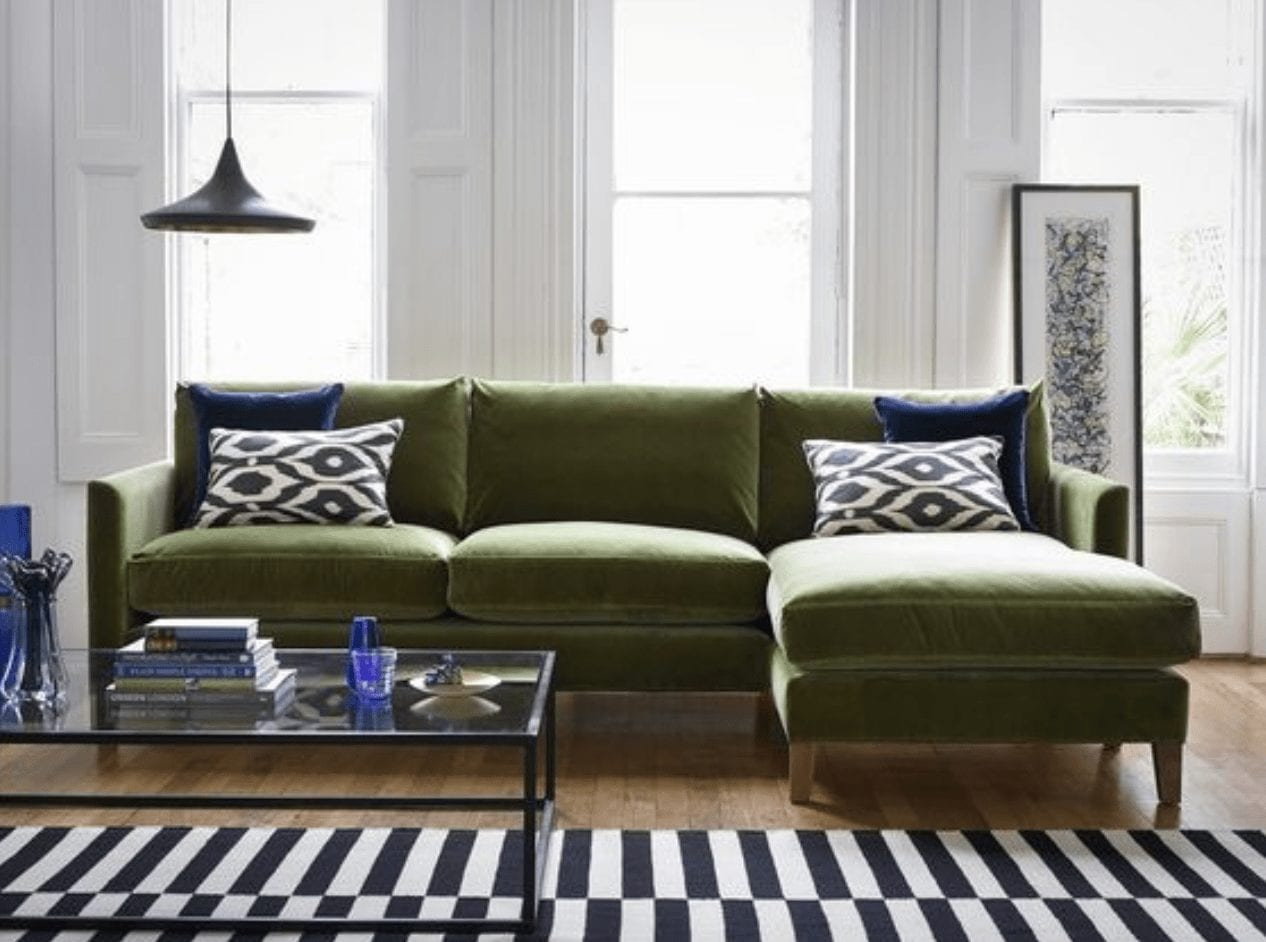 It's All About The Green Velvet Sofa