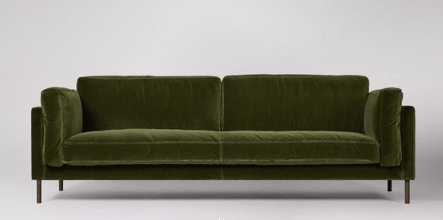 It 39 s all about the green velvet sofa interior design for Sofa munchen design