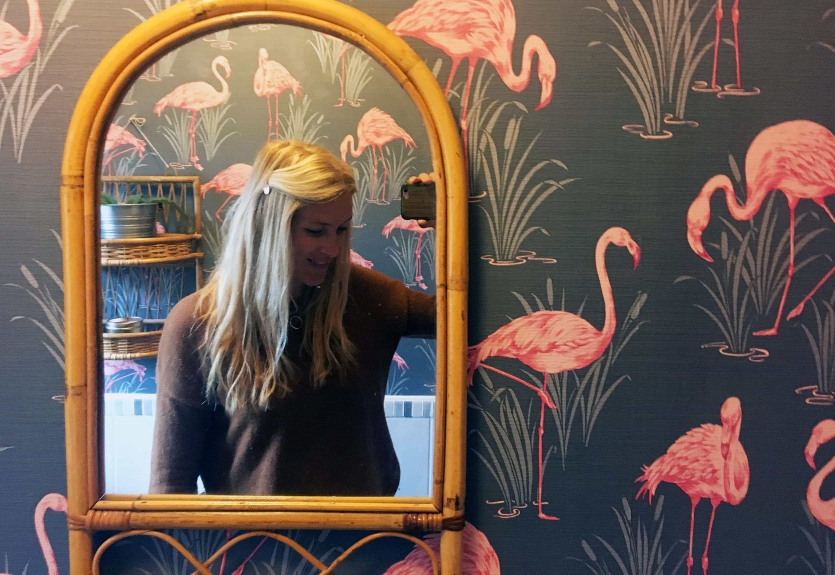 Drab to flamingo-fab! Downstairs bathroom makeover