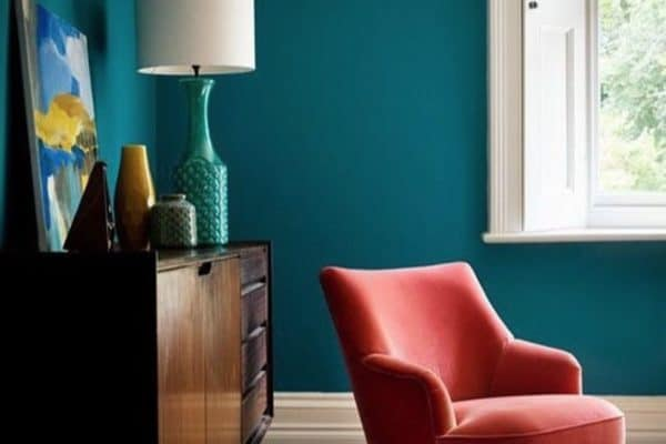 Of course farrow and ball are going to get this colour just right. It's Vardo and that chair just looks amazing.