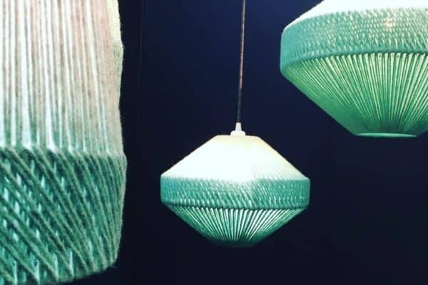 Wow wow wow 😳 I am going to have to get one of these. We were both blown away by these beautiful handmade light shades by @janiewithers available in lots of shapes and colours. Absolutely beautiful and such a lovely lady - nice to meet you!