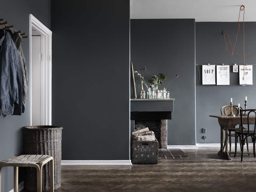 Black and Grey Interiors , Green \u0026 Mustard