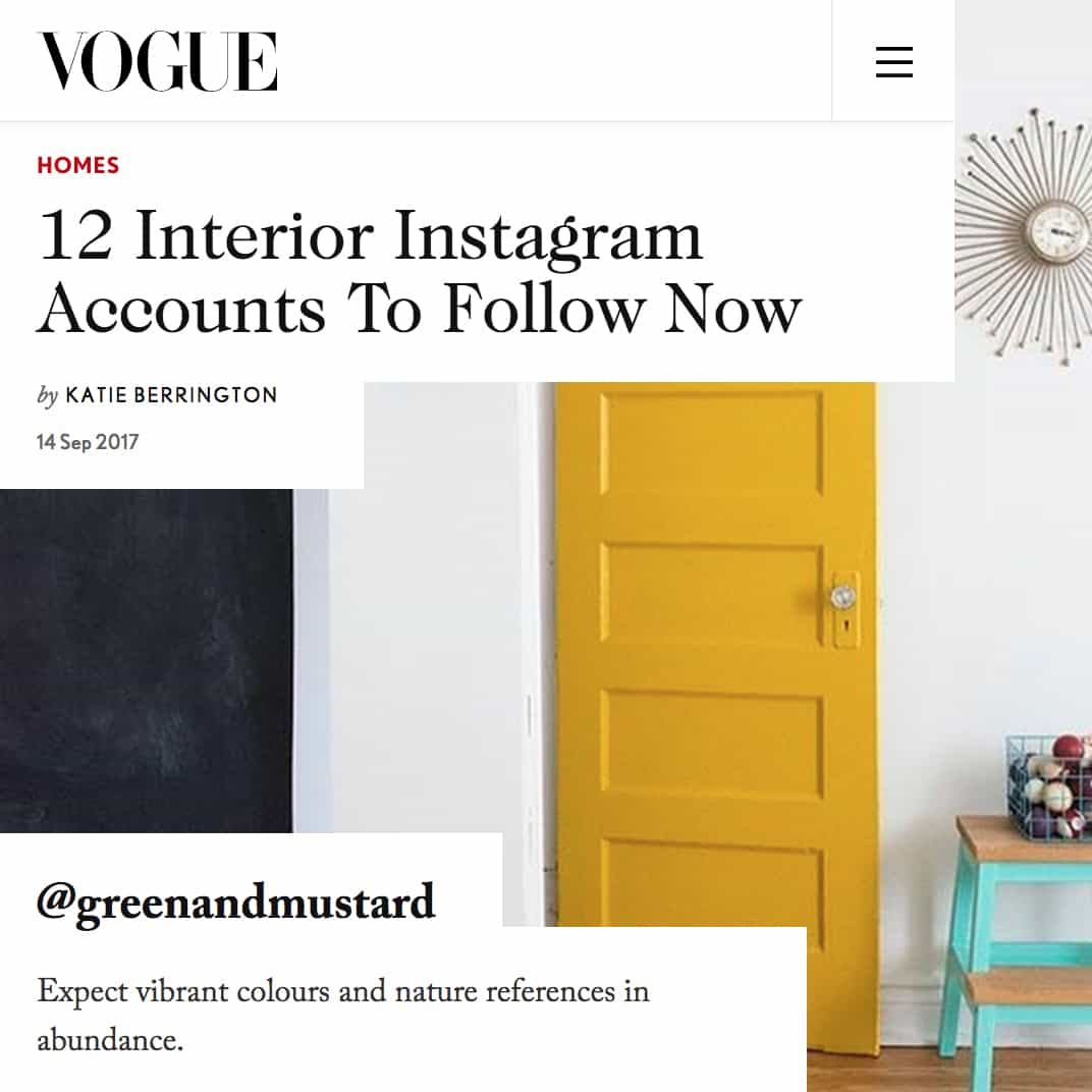 We Were Only Bloomin Mentioned In Vogue Interior Design News Uk Green Mustard