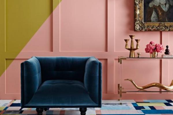 Pink Interiors - Green & Mustard | Mid Century & Boho Interior ...