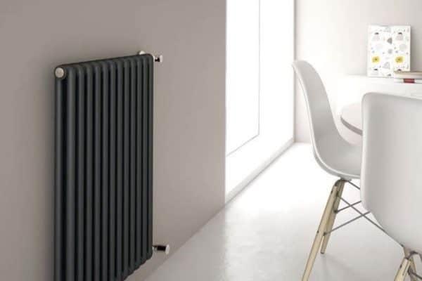 Credit: Milano Aruba black vertical designer radiator