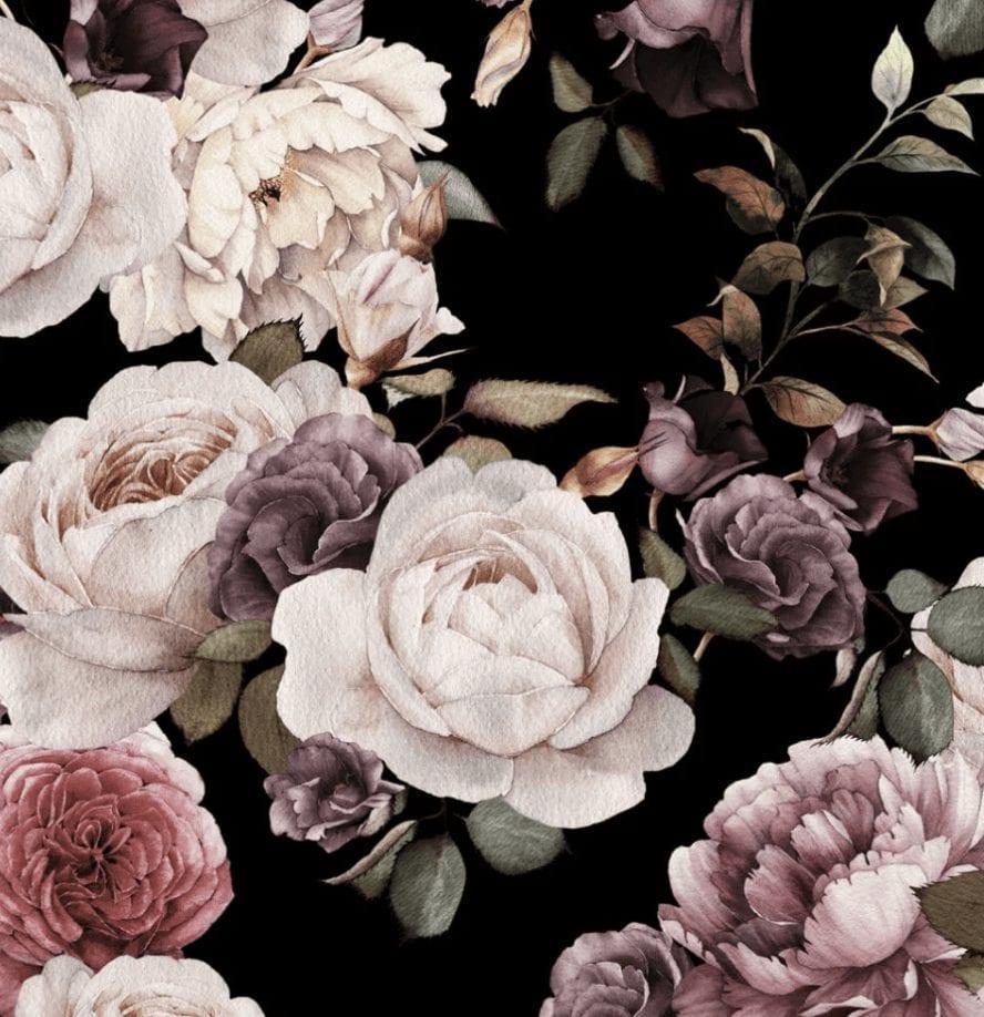 Floral Noir Dark Floral Interiors Interior Design Trends