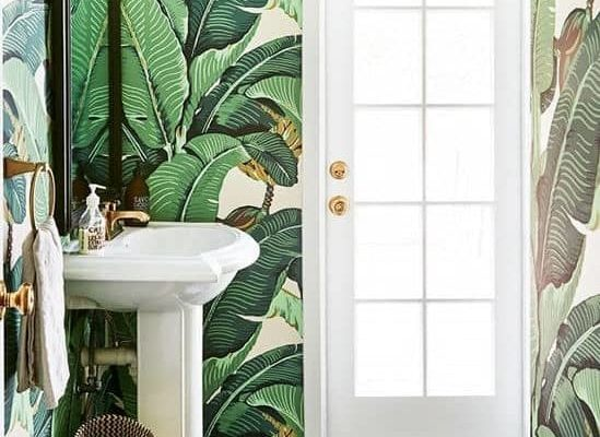 bathroom-wallpaper-botanical