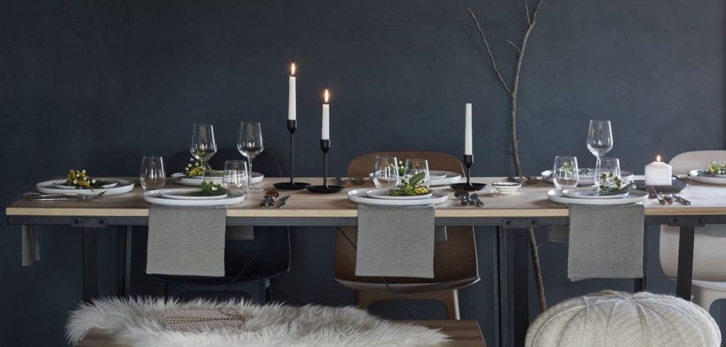 nordic christmas table setting
