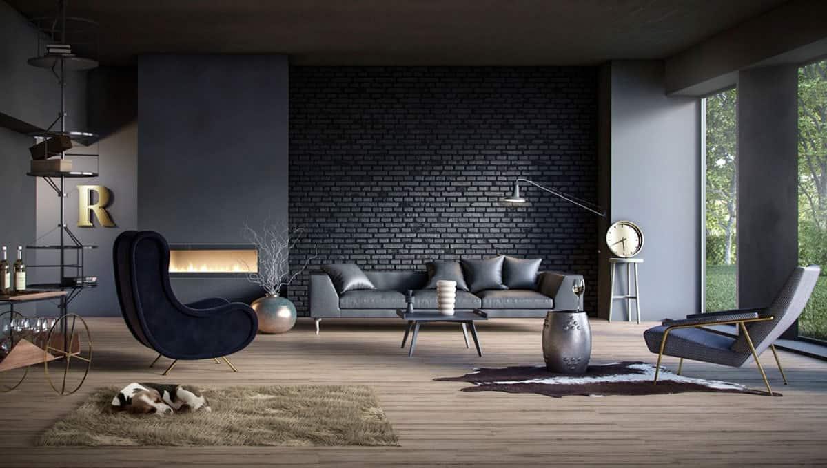 Dark walls dark interiors inspiration