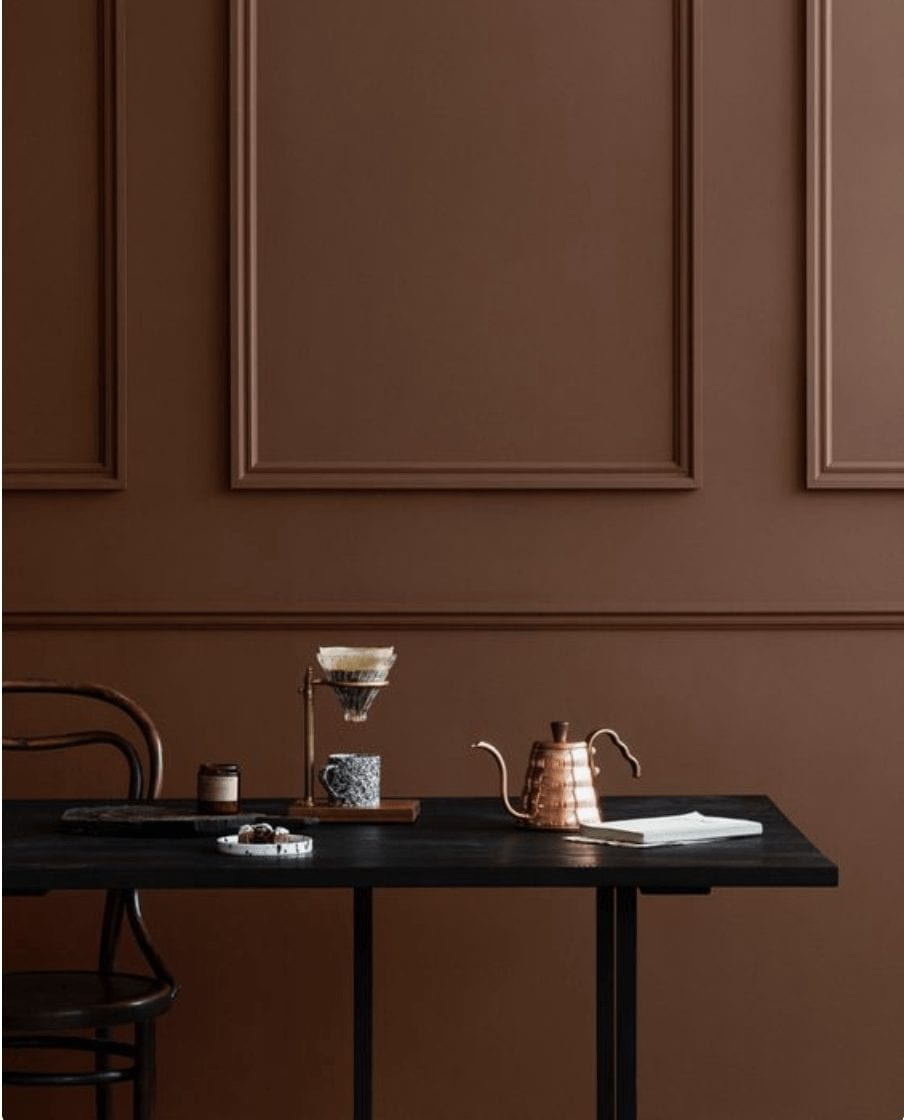 Chocolate walls earth colours