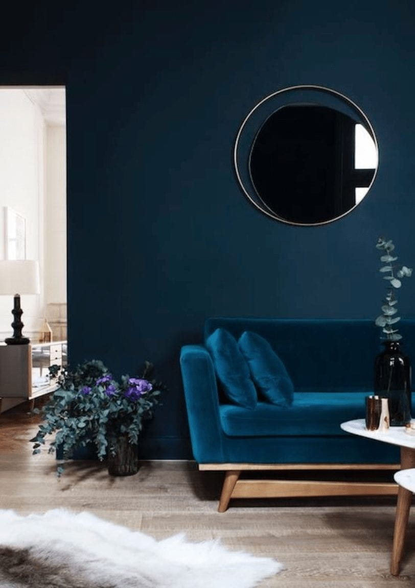 blue wall inspiration