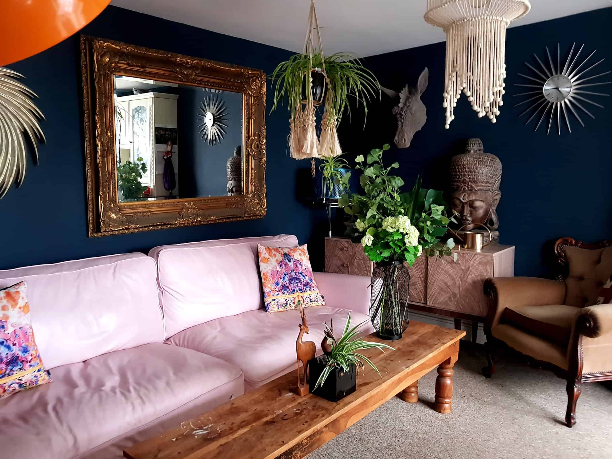My Decorating Style Is Definitely Boho And Relaxed (maybe A Bit Messy Too)  I Love Dark Walls, Loud Wallpaper And Gold Mirrors! Iu0027m Also Pretty Fond Of  My ...