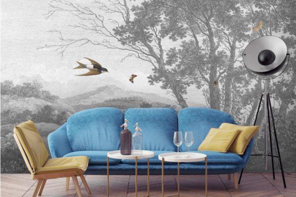 Woodchip & Magnolia's Zephyr Wallpaper Mural