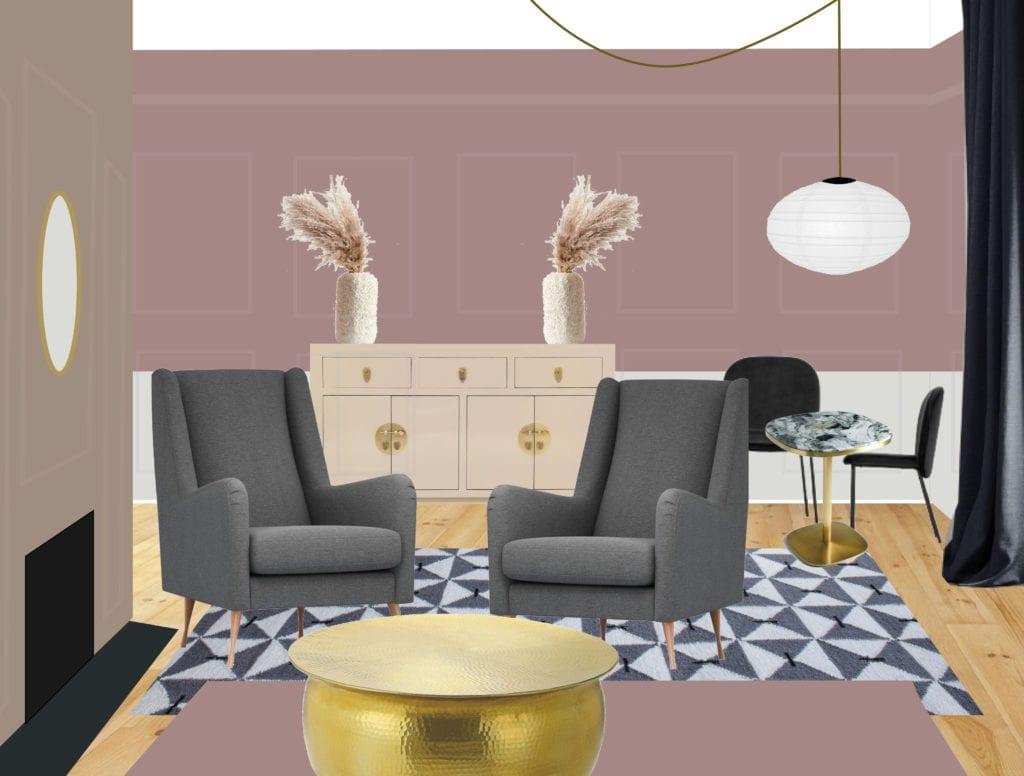 pink room mock up