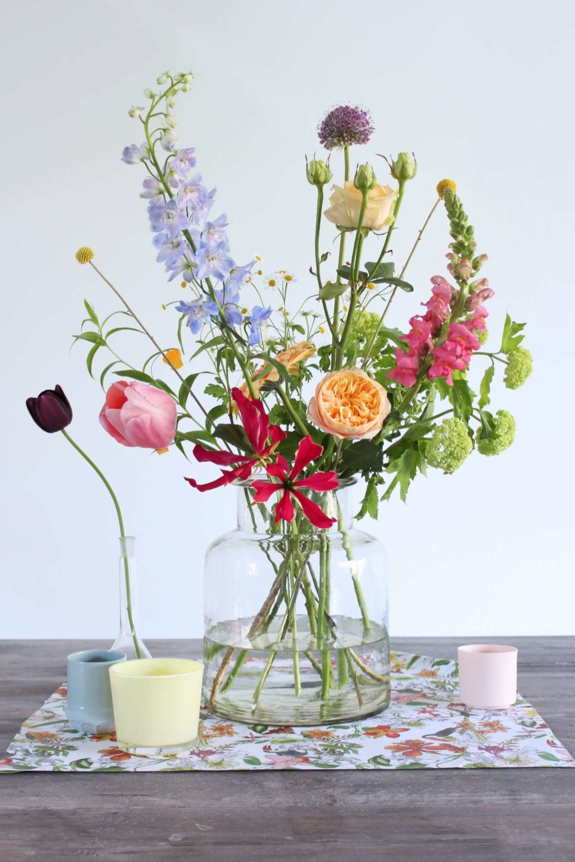 how to display flowers
